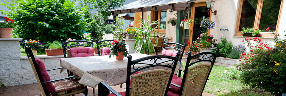Pension Arnspitze Terrasse